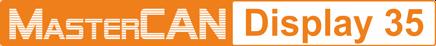 MasterCAN Display 35 CAN bus display logo