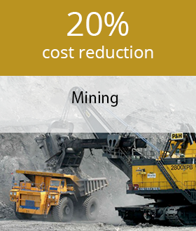 Reducing fuel cost in mining