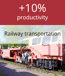 Increase in productivity of realway transport