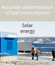 Fuel monitoring of diesel generators combined with solar panels