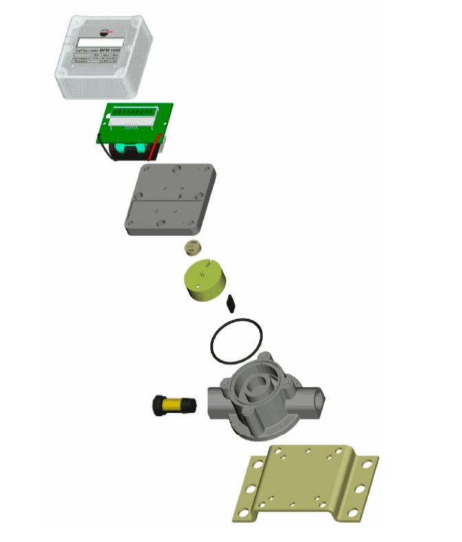 Внутреннее устройство счетчика топлива DFM