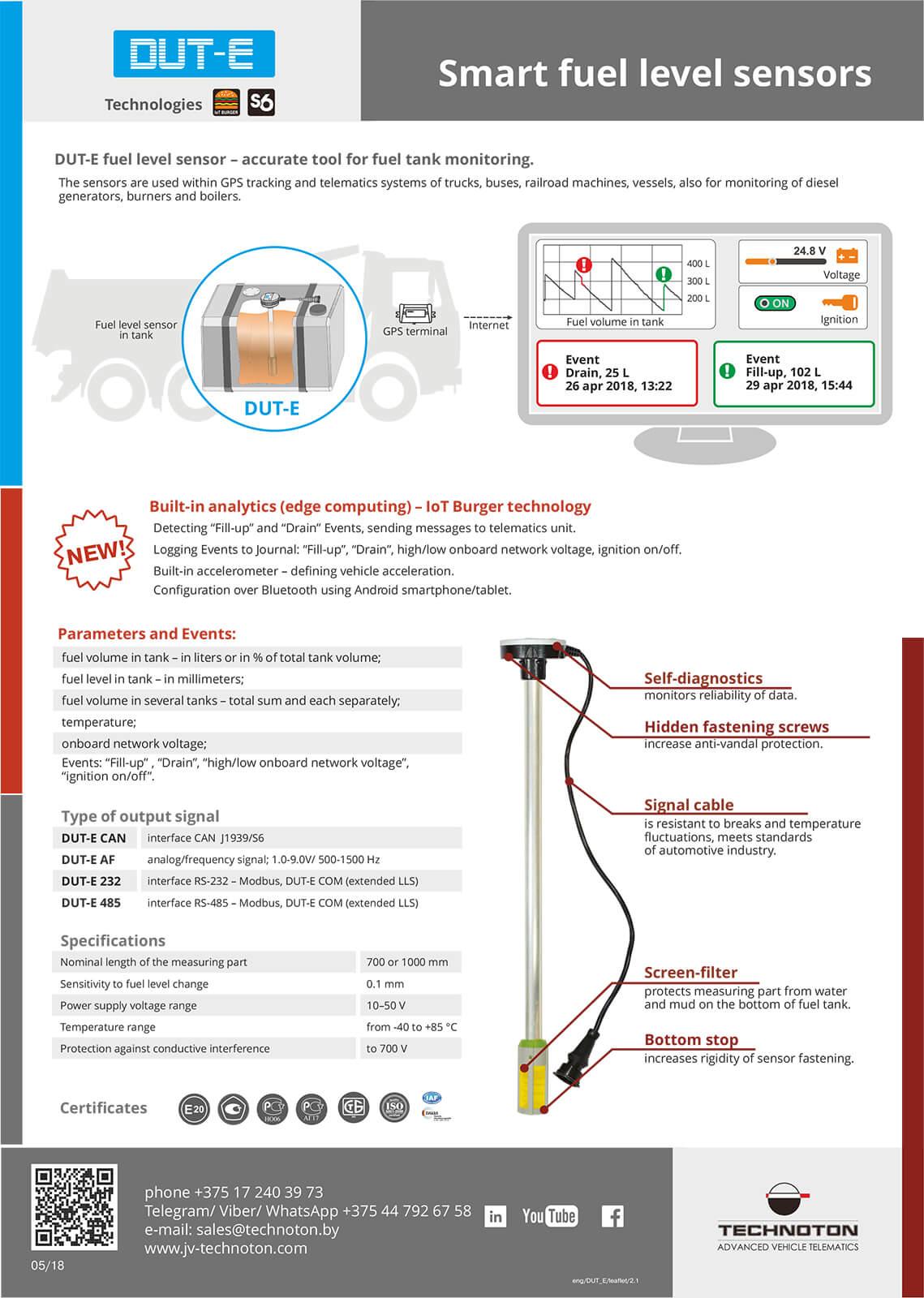Smart fuel level sensors