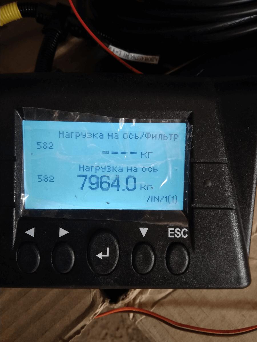 Параметр нагрузка на ось отображаемые на экране MasterCAN Display 35