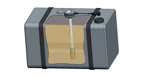 Fuel level sensor DUT-E in the fuel tank