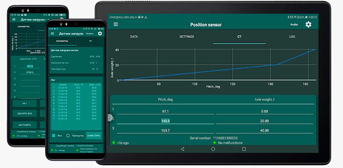 Aplicación de Android Axis Load Monitor