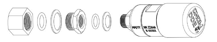 Instalación en el orificio estándar de la línea de suministro de aire en el cojín de la suspensión neumática del vehículo