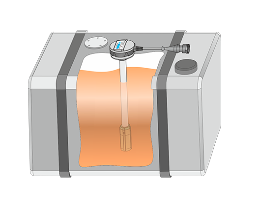 Fuel level sensor in tank