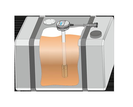 Fuel volume in tank (fuel level sensor)