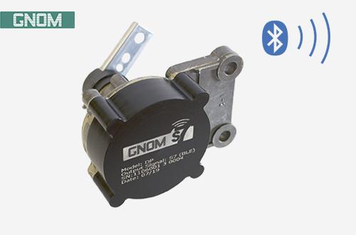 Wireless position sensor for leaf spring suspension