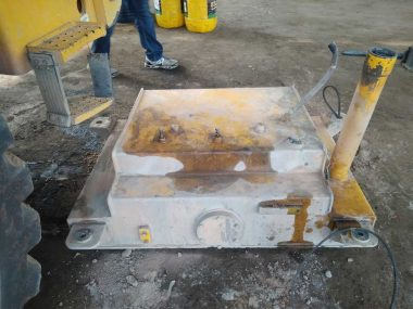 Removal of a fuel tank to provide DUT-E installation