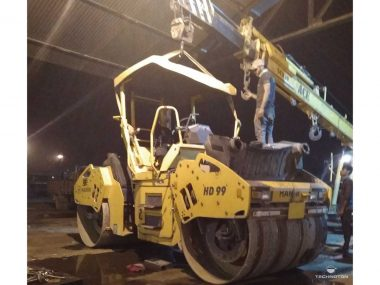 Removing the cab to provide DUT-E mounting