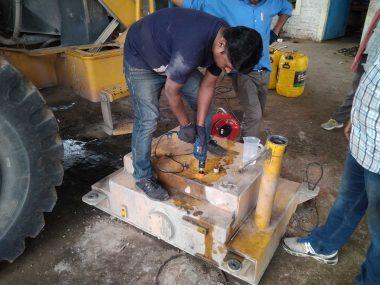 Drilling a hole for DUT-E fuel level sensor