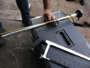 Measurement of an actual length of a sensor