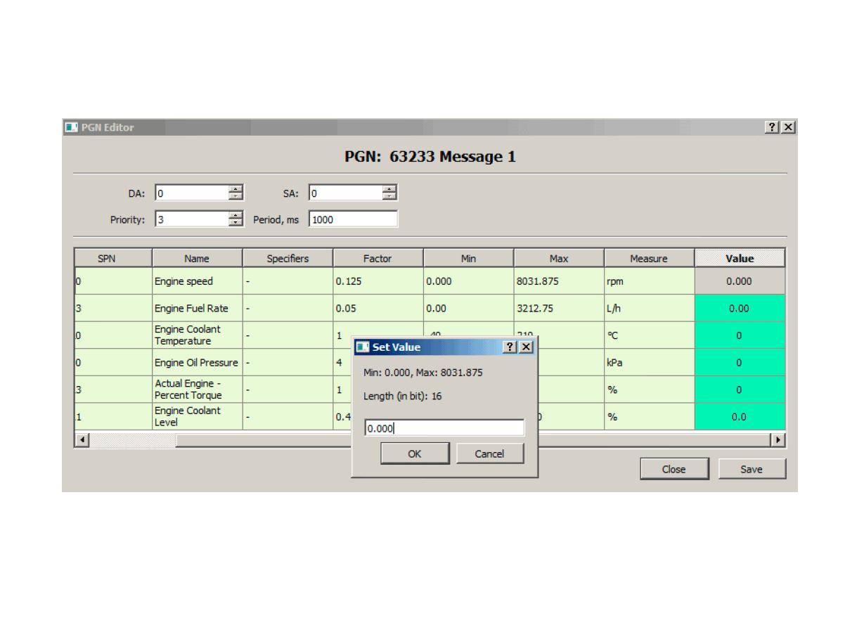 Editing SPN numeric values