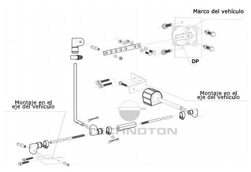 Diagrama de instalación en el vehículo de tres ejes
