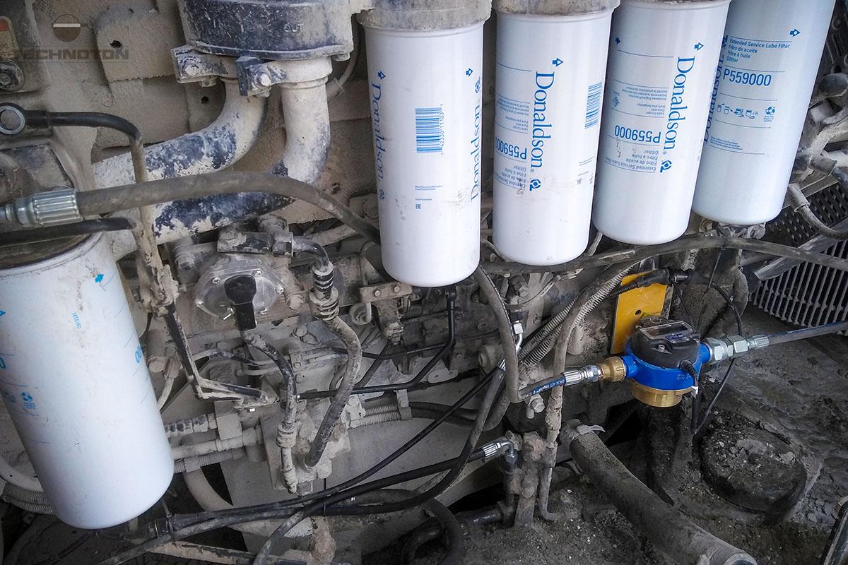 Расходомер в системе подачи топлива