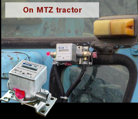 Fuel flow meters were mounted on MTZ-80 tractors