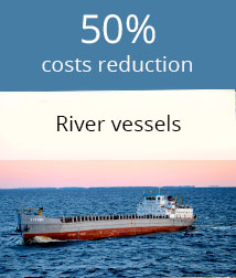 Fuel consumption monitoring of river vessels