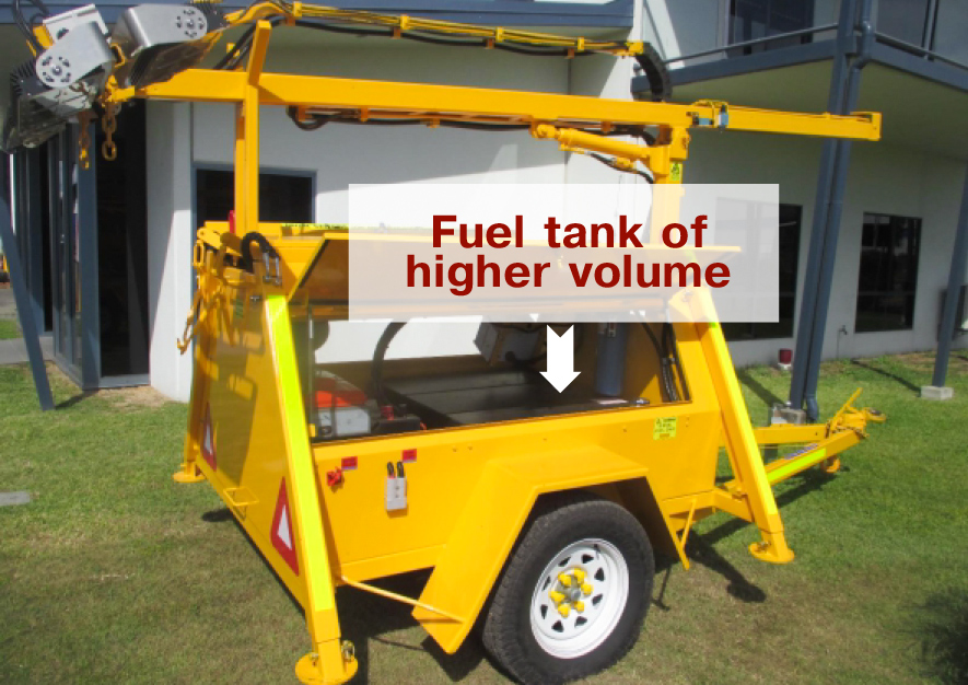 Fuel tank of higher volume