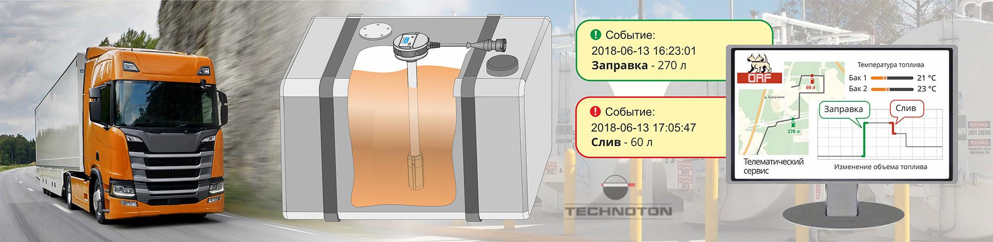 Контроль топлива в баке