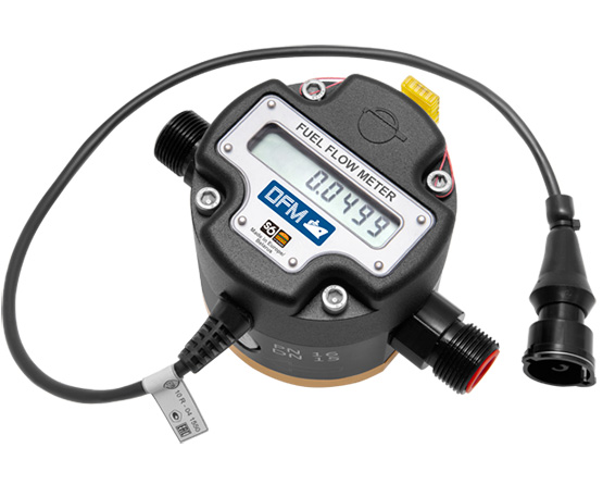 Big flowmeter with output signal cable and display