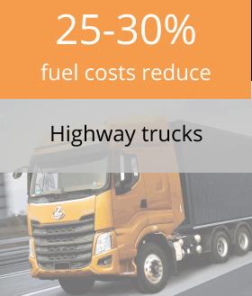 Highway trucks fuel tank monitoring